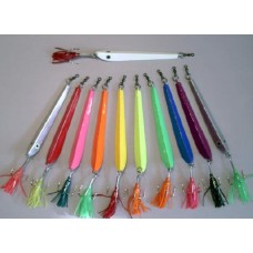 Norwegian Jig, 14 Oz., Chrome Plated, Treble Hook with Squid Teaser