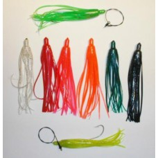 6 Inch Bluefish Squid Skirt with 7/0 Sproat Hook & 1 oz. Weight