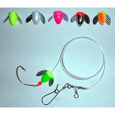 Spin-N-Glo Fluke Rig with 2/0 Wide Gap Hook