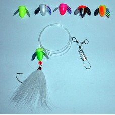 Spin-N-Glo Fluke Rig with Bucktail - 2/0 Wide Gap Hook