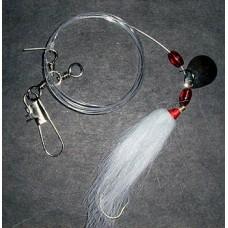 Fluke Rig with 2/0 Wide Gap Hook, Spinner Blade & Bucktail