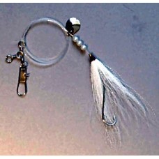 Fluke Rig with Carlisle Hook, Bucktail, Spinner Blade & Pearl Beads